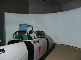 飛行シミュレーション(腐敗)のための大きい背面映写スクリーン