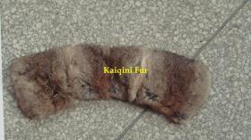 Grass Yellow Rabbit Wide Rabbit Fur Collars Manufacturer From China