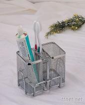 不鏽鋼SA-2A 不鏽鋼拉網--雙籃--牙刷架