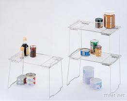 不鏽鋼可重疊罐架