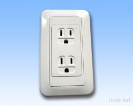 防潑水防觸電牆壁插座
