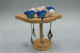海豚木架果叉組
