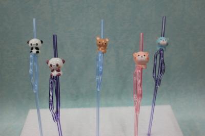 可愛動物造型吸管
