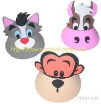 DIY-動物遮陽帽/面具