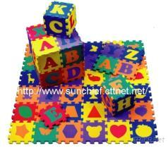 兒童拚圖遊戲墊, 益智教育玩具, EVA泡綿拚圖