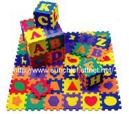 儿童拼图游戏垫, 益智教育玩具, EVA泡绵拼图