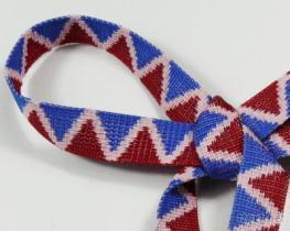 三色W型織帶