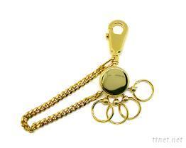 高級銅製可快速分離鑰匙圈