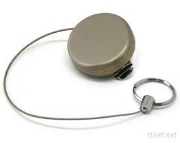 伸縮不鏽鋼鑰匙圈