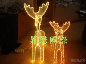LED立體母子麋鹿