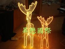 LED立体母子麋鹿