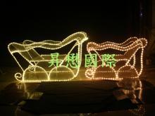 LED 3D立體雪橇造型燈