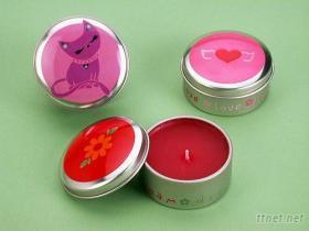 圓臘罐 鐵盒 蠟燭鐵盒--台灣生產