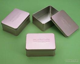 鐵盒彩妝盒 馬口鐵盒 置物盒 長方盒--台灣生產