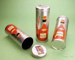 酒罐 酒盒 金属圆桶 马口铁罐 --台湾生产