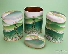 橢圓罐 茶葉罐 --台灣生產