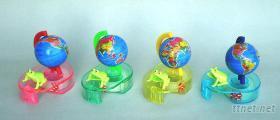 地球仪青蛙嘴动胶带台