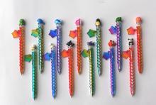 原子筆變色彩虹POLY動物筆