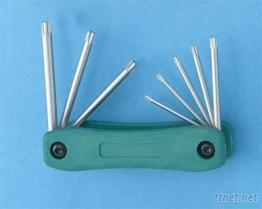 折疊式梅花扳手(Folding Torx Key Wrench Set)