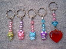 可愛動物穿珠鑰匙圈
