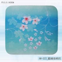 AW-022_藍綠油桐花滑鼠墊