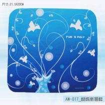 AW-017_蝴蝶渐层蓝鼠标器垫
