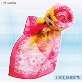 S-001_桃底菊花丝巾