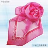 S-002_粉色星星絲巾