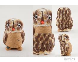 貓頭鷹作品-黏土