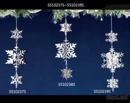 雪花金屬吊飾