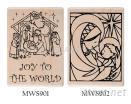 聖誕 楓木印章