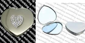 水晶鑽心型盒鏡