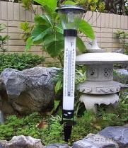 太阳能花园灯 & 温度计