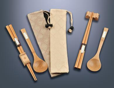 經典筷袋組(金檀)