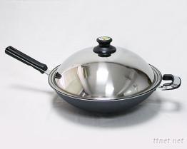 (單把)瓷釉黑金鍋
