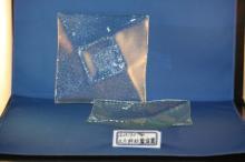 方形斜紋餐盤(玻璃餐具)