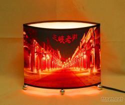 客製化-中扁圓桌燈