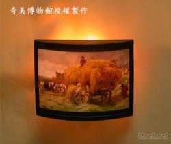 客製化-畫作式小夜燈(ABS黑框)