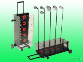 高爾夫試打器, 陳列球桿架, 球桿展示架