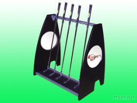 高尔夫推铁桿架, 高尔夫球架, 展示架