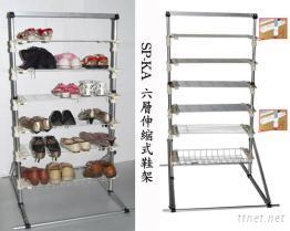 伸縮式鞋架, 花盆架, 伸縮花架