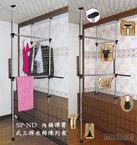 伸縮曬被架, 櫥櫃伸縮架, 伸縮衣褲架