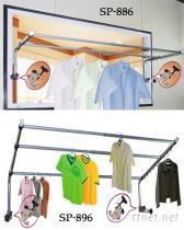 锁壁式衣饰架,锁壁式衣裤架,锁壁式服饰架