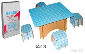纸制组合式休闲桌椅组