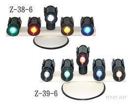 五燈吸盤式旋轉照明警示燈