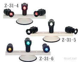 三燈吸盤式旋轉照明警示燈