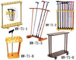 木製枴杖展示架