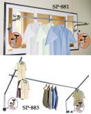 锁壁式吊衣架,锁壁式衣裤架,锁壁式服饰架