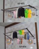 锁壁式吊衣架,锁壁式衣饰架,锁壁式服饰架