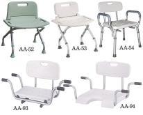 有背淋浴椅, 有背洗澡椅, 有背浴室椅, 有背安全椅, 有背防滑椅